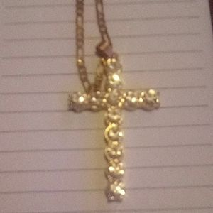 A necklace with cross